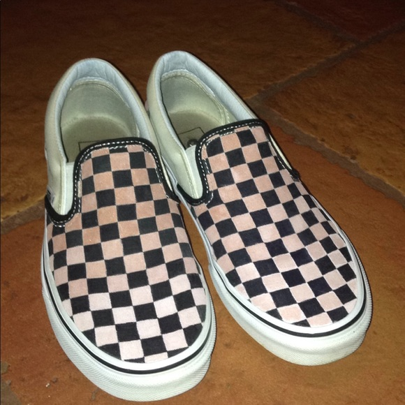 rose gold checkered vans off 61% - www